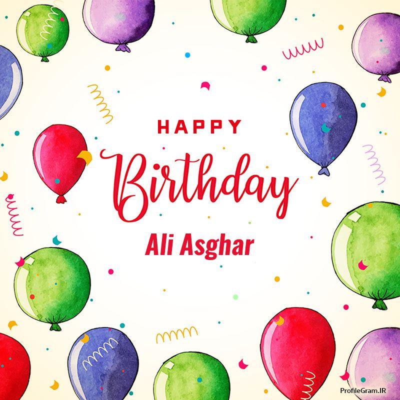 عکس نوشته تولدت مبارک علی اصغر