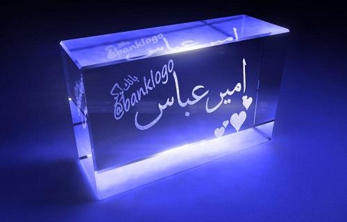 عکس نوشته شیشه ای امیرعباس