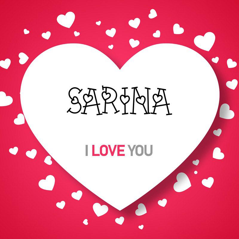 عکس نوشته عاشقانه سارینا I Love You
