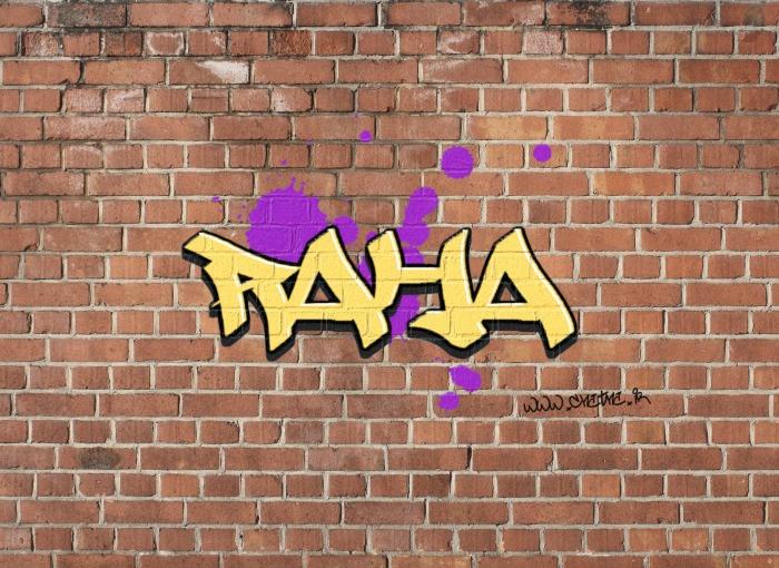 عکس پروفایل اسم رها با طرح دیوار آجری