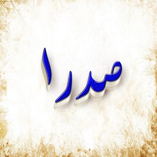 عکس پروفایل اسم صدرا با طرح سه بعدی آبی