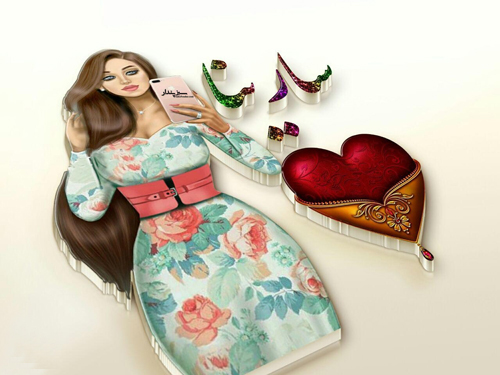 عکس پروفایل سارینا با طرح دخترونه خوشگل
