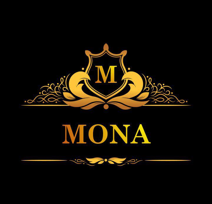 لوگوی اسم مونا به انگلیسی