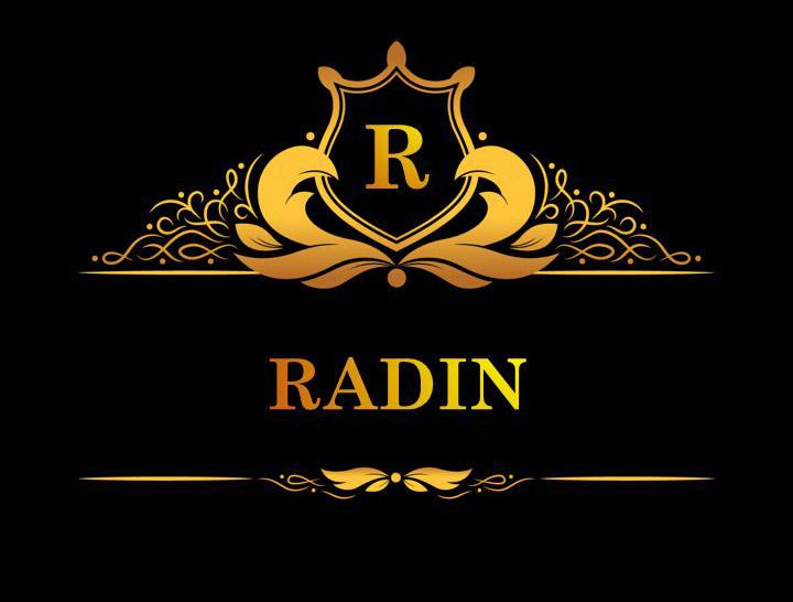 لوگوی طلایی اسم رادین