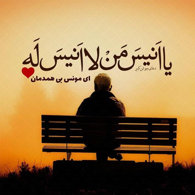 عکس نوشته ای مونس بی همدمان