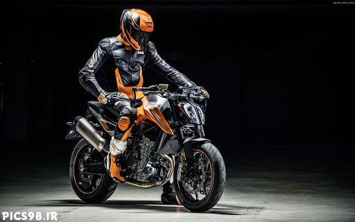 عکس موتور نارنجی خوشگل