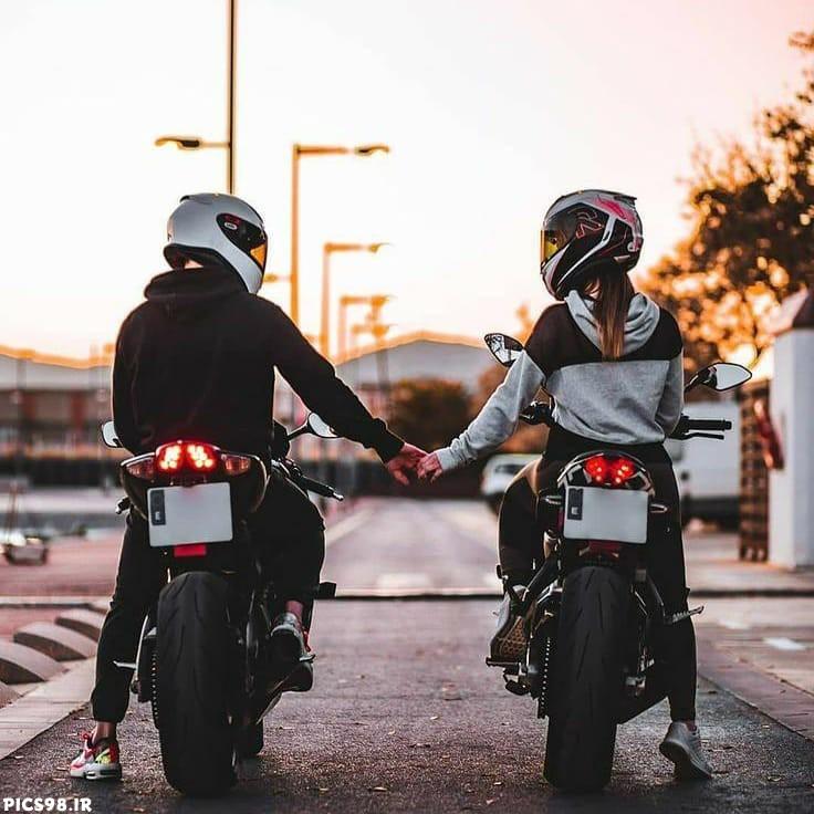 عکس پروفایل دختر و پسر موتورسوار