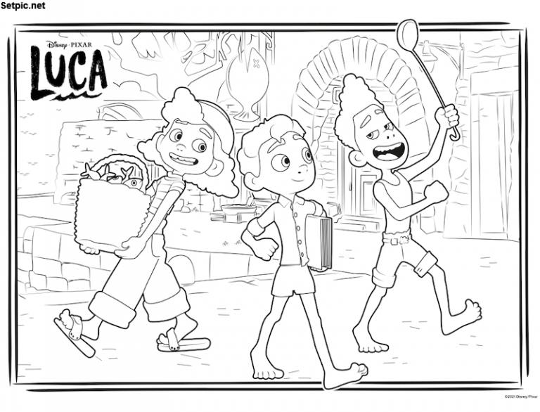 انیمیشن لوکا سیاه و سفید برای رنگ آمیزی