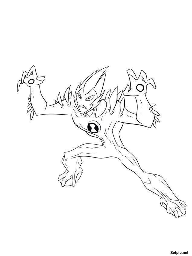 رنگ آمیزی کارتونی انیمیشن Ben 10 Ultimate Alien