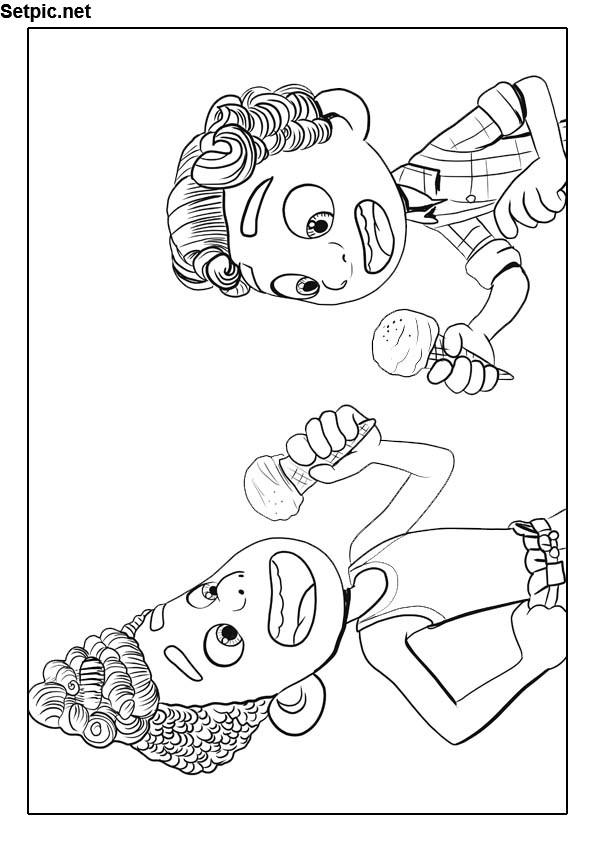 عکس بامزه کارتونی کارتون لوکا برای رنگ آمیزی