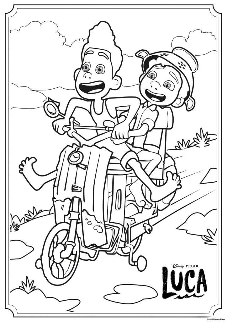 عکس کارتون لوکا برای رنگ آمیزی
