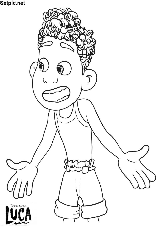نقاشی رنگ آمیزی پسرانه کارتون لوکا