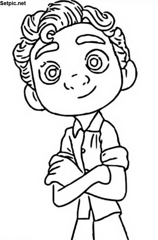 نقاشی پسرونه انیمیشن لوکا برای رنگ آمیزی